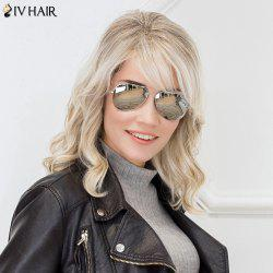 Siv Hair Colormix Side Bang Medium Shaggy Wavy Human Hair Wig -