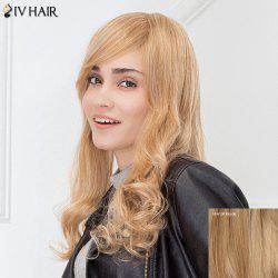 Siv Hair Fluffy Inclined Bang Natural Wave Long Human Hair Wig