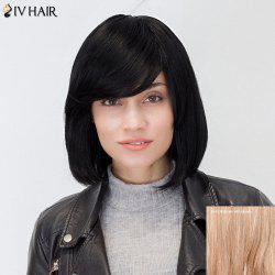 Siv Hair Inclined Bang Short Straight Bob Human Hair Wig