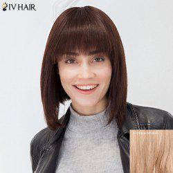 Siv Hair Neat Bang Silky Straight Pixie Short Bob Human Hair Wig
