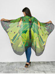 Hand Crafted Butterfly Wing Cape Chiffon Scarf with Straps