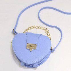 Metal Trimmed Heart Shaped Crossbody Bag