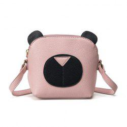 Color Block Cross Body Cartoon Bear Bag