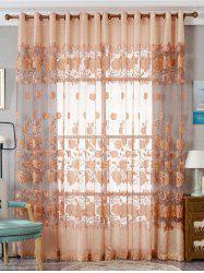 European Sheer Window Flower Tulle Curtain For Living Room