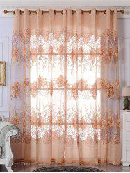 Europe Flower Embroidered Sheer Window Screen Tulle