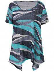 Plus Size Color Striped Top