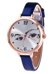 YBOTTI Faux Leather Analog Watch with Pretty Glance