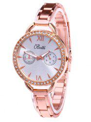 YBOTTI Alloy Rhinestone Wrist Quartz Watch