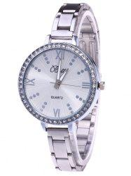 YBOTTI Rhinestone Alloy Wrist Quartz Watch