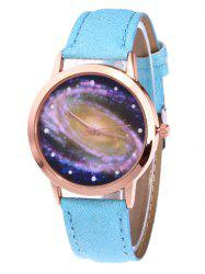 Starry Sky Pattern Faux Leather Watch -