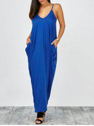 Floor Length Beach Slip Dress - BLUE