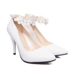 Flowers Ankle Strap Pumps