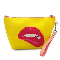 Funny Printed Wristlet Clutch Bag - YELLOW
