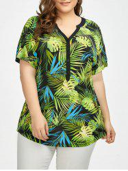 Tropical Print Plus Size Hawaiian T-Shirt
