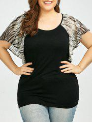 Raglan Sleeve Plus Size Graphic T-Shirt