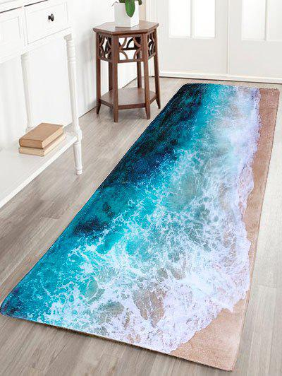 Shop Sea Beach Print Flannel Skidproof Water Absorb Carpet