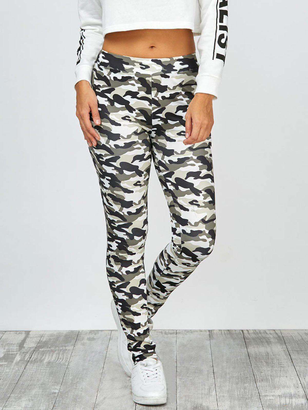 Fancy High Waisted Camo Leggings
