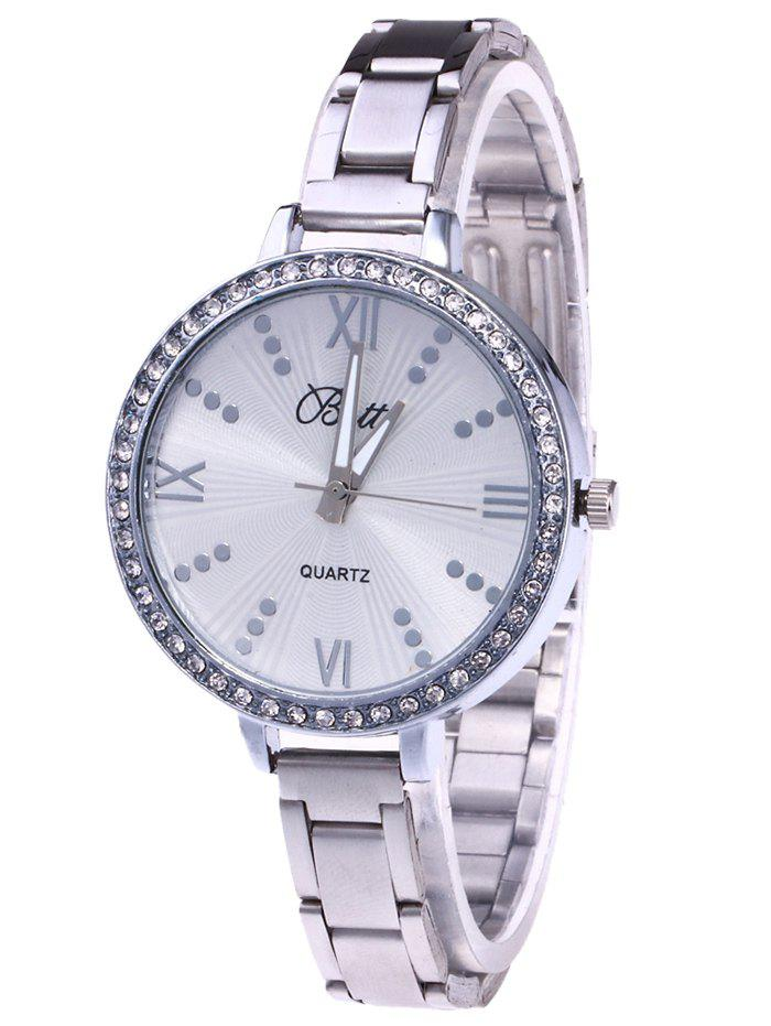 Outfits YBOTTI Rhinestone Alloy Wrist Quartz Watch