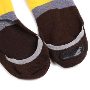Color Block Antiskid Loafer Liner Sperry Chaussettes - Café et Jaune