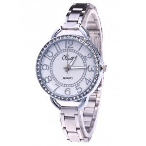 YBOTTI Alloy Band Number Quartz Watch