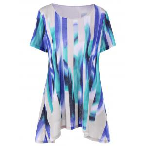 Plus Size Long Ombre Swing T-Shirt