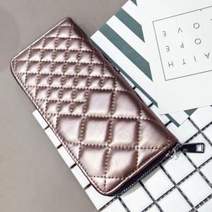 Zipper Around Quilted Clutch Wallet -
