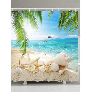 Beach Sights Mildew Resistant Fabric Shower Curtain