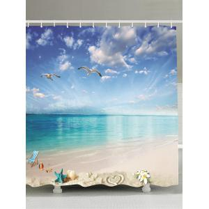 Beach Landscape Water Resistant Fabric Shower Curtain