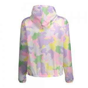 Camouflage Hooded Sun Protection Skin Windbreaker - SUEDE ROSE ONE SIZE