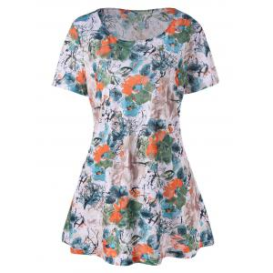 Plus Size Flower Print T-Shirt