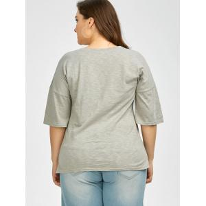 Plus Size Love Graphic T-Shirt - GRAY 3XL