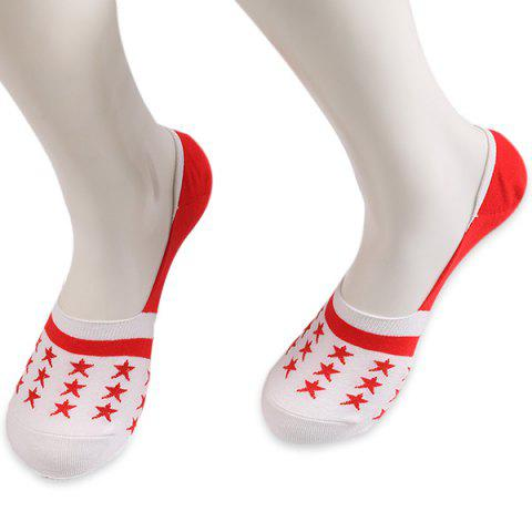 Store Knited Stars Embellished Loafer Socks