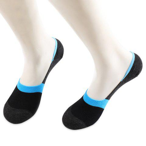 Color Block Antiskid Loafer Liner Sperry Chaussettes Noir et Bleu
