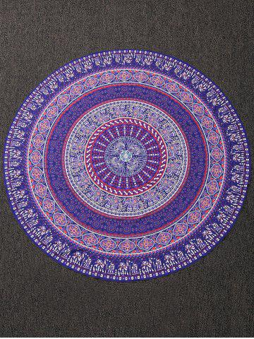 Buy Print Round Beach Throw Cover - ONE SIZE COLORMIX Mobile