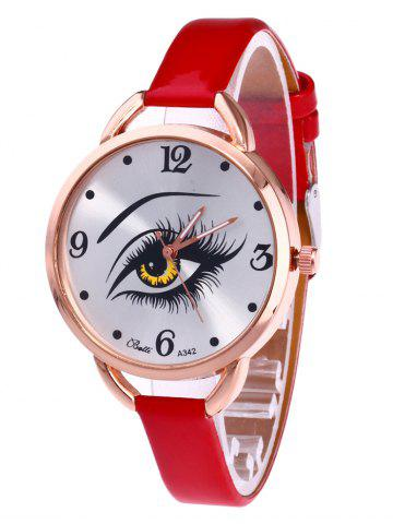 Latest YBOTTI Faux Leather Quartz Watch with Beauty Eye
