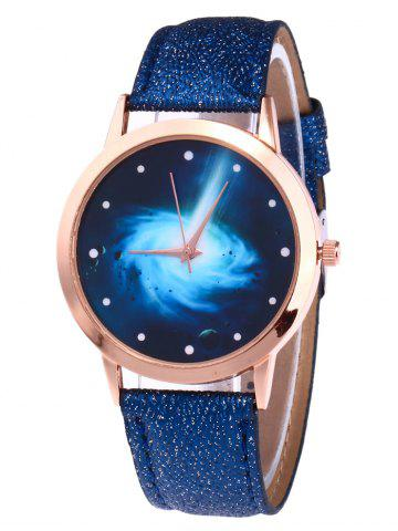 Glitter Strap Starry Vortex Quartz Watch - Royal