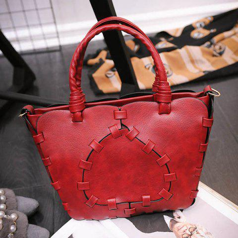 Outfits Stitching Faux Leather Handbag