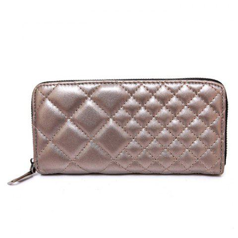 Chic Zipper Around Quilted Clutch Wallet