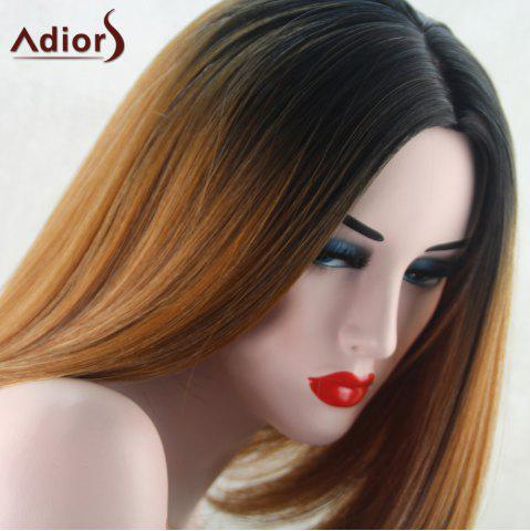 Hot Adiors Medium Straight Middle Part Bob Gradient Synthetic Wig - COLORMIX  Mobile