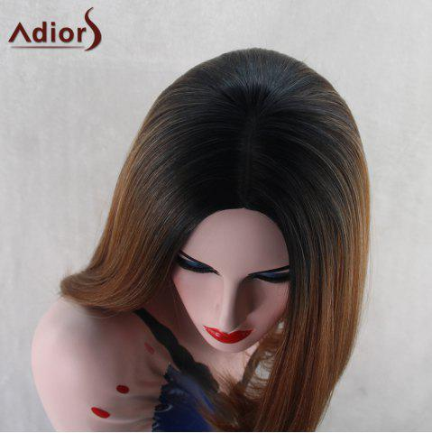 Outfits Adiors Medium Straight Middle Part Bob Gradient Synthetic Wig - COLORMIX  Mobile