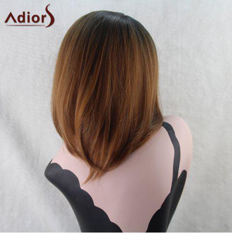 Fashion Adiors Medium Straight Middle Part Bob Gradient Synthetic Wig - COLORMIX  Mobile
