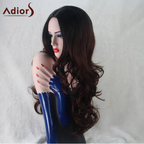 Hot Adiors Wavy Middle Part Synthetic Long Wig - COLORMIX  Mobile