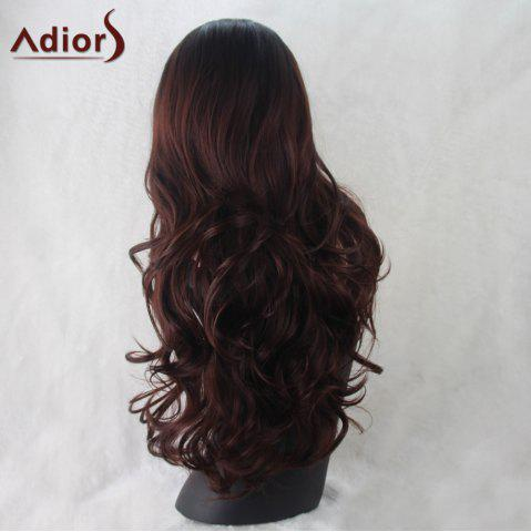 Shops Adiors Wavy Middle Part Synthetic Long Wig - COLORMIX  Mobile