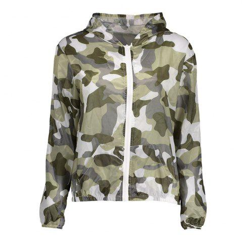 Latest Camouflage Hooded Sun Protection Skin Windbreaker