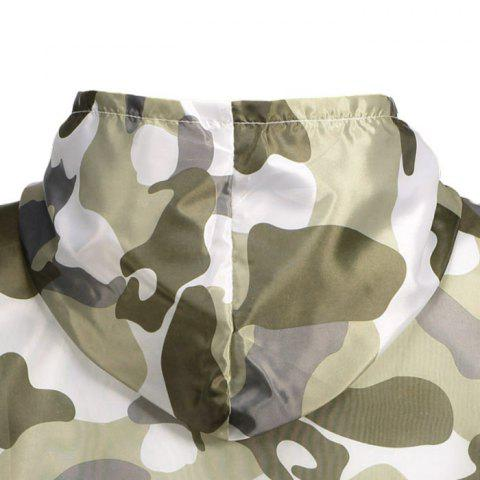 Cheap Camouflage Hooded Sun Protection Skin Windbreaker - ONE SIZE ARMY GREEN Mobile
