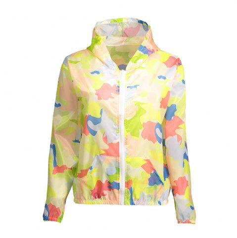 Shop Camouflage Hooded Sun Protection Skin Windbreaker