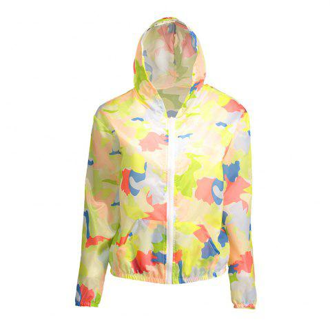 Hot Camouflage Hooded Sun Protection Skin Windbreaker - ONE SIZE RED Mobile