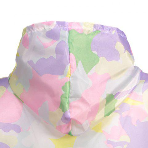 Chic Camouflage Hooded Sun Protection Skin Windbreaker - ONE SIZE SUEDE ROSE Mobile