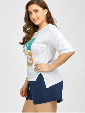 Affordable Plus Size Love Graphic T-Shirt - 2XL WHITE Mobile