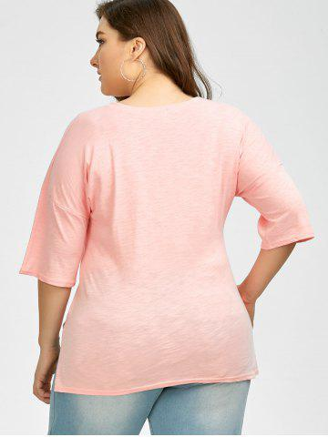 Hot Plus Size Love Graphic T-Shirt - 2XL PINK Mobile
